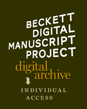 BECKETT DIGITAL MANUSCRIPT PROJECT - INDIVIDUAL ACCESS