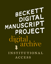 BECKETT DIGITAL MANUSCRIPT PROJECT - INSTITUTIONAL ACCESS